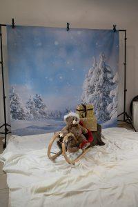 Set-Aufbau Weihnachtsshooting